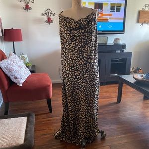 Maxi animal print dress
